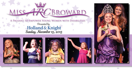 Third Annual Miss ARC Broward Pageant banner