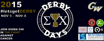 GW Sigma Chi for Derby Days 2015 banner