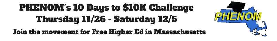 PHENOM's 10 Days to $10K Challenge banner