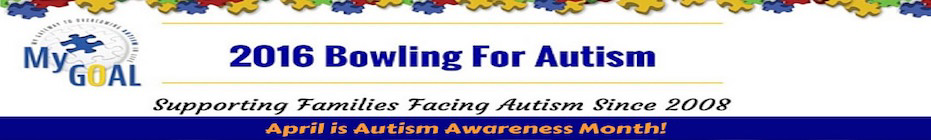 2016 MyGOAL Bowling for Autism banner