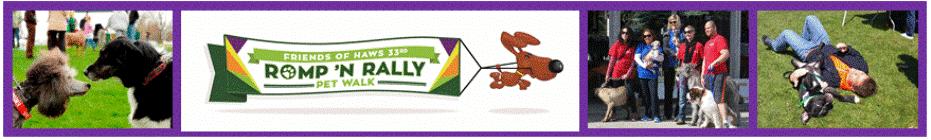 Romp 'N Rally Pet Walk 2016 banner