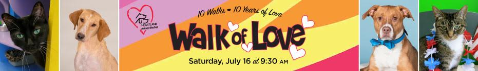 Heartland's 10th Annual Walk of Love - Join the Furry Love 2016 Team! banner