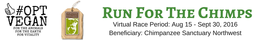 #OPT VEGAN - Run For The Chimps banner