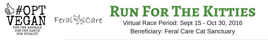 #OPT VEGAN - Run For The Kitties banner
