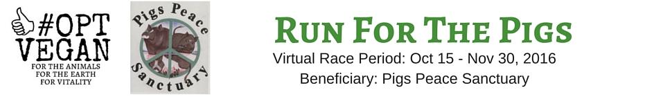 #OPT VEGAN - Run For The Pigs banner