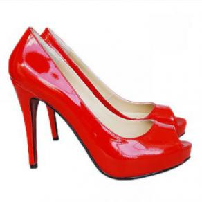 Size 550x415 christian louboutin red patent peep toe pumps 6696