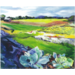 Painting of the farm fields by Janet Walerstein Winston