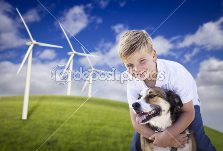 Size 550x415 child and wind turbine 8   boy and dog