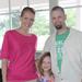 Christella, Jon, and Grace Hudson